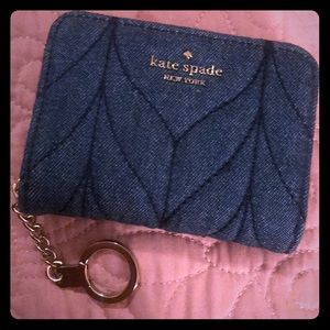 Kate Spade Briar Lane Quilted Denim Wallet